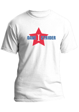 Promotional Dave Strider with Big Star Shirts.